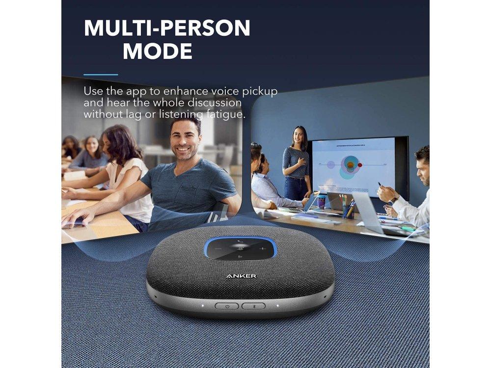Anker PowerConf S3 VBluetooth Speakerphone, 6 Mic, 24 Hour Call Time, BT 5.0, USB-C, Conference Speaker, PowerIQ - A3302011
