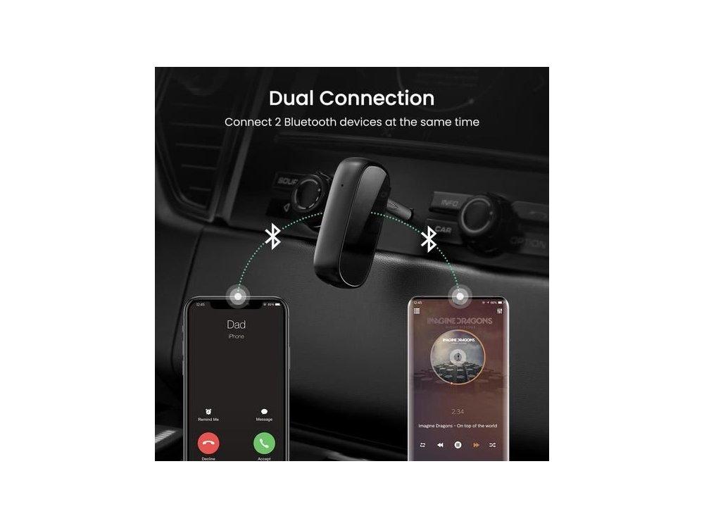 Ugreen Bluetooth 5.0 Handsfree Car Kit, AUX Audio Transmitter aptX - 70304