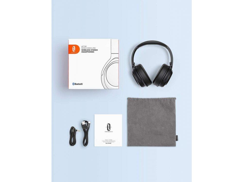 TaoTronics SoundSurge 85 Bluetooth ακουστικά με Active Noise Cancelling, Fast Charge, CVC8.0, 40H Μπαταρία, Μαύρα - TT-BH085