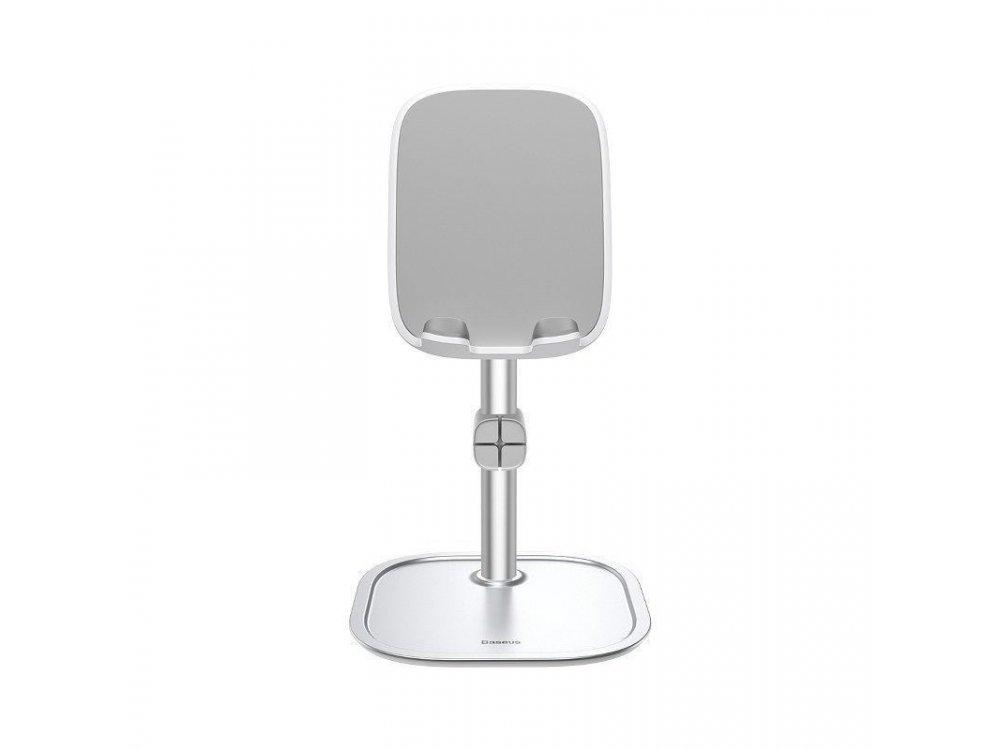 Baseus Literary Youth Desktop Bracket Holder / Stand for Smartphone / Tablet, Silver - SUWY-0S