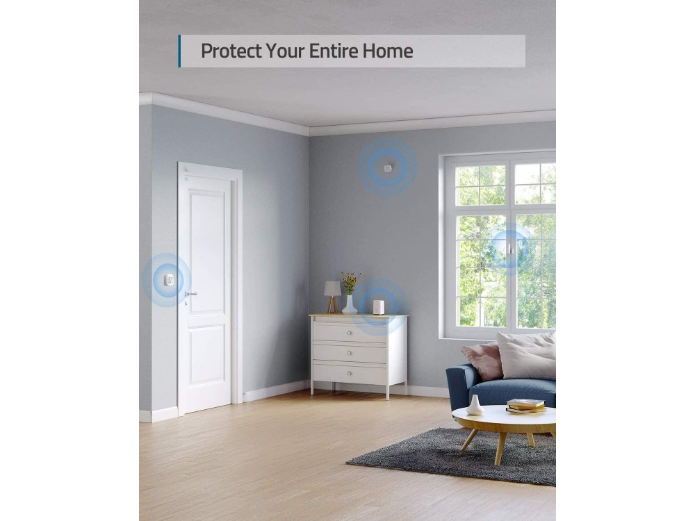 Anker Eufy 5-Piece Home Alarm Kit, with APP - T8990321