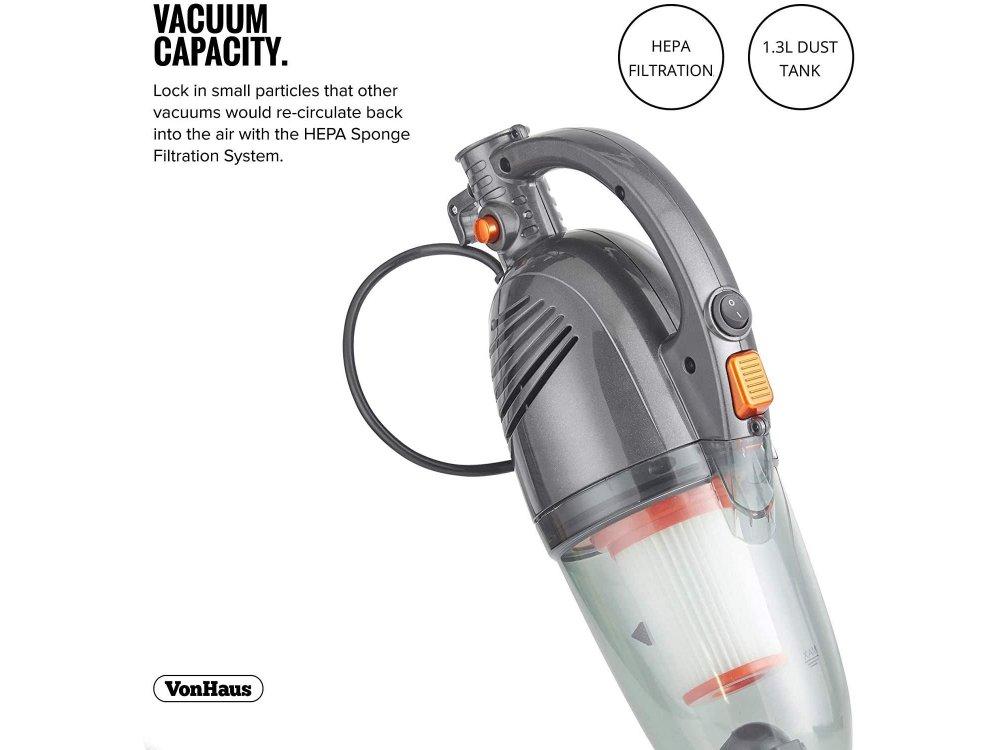 VonHaus Ηλεκτρική σκούπα χειρός / Stick 2-in-1, 800W, 13000Pa, Ρεύματος - 3007796