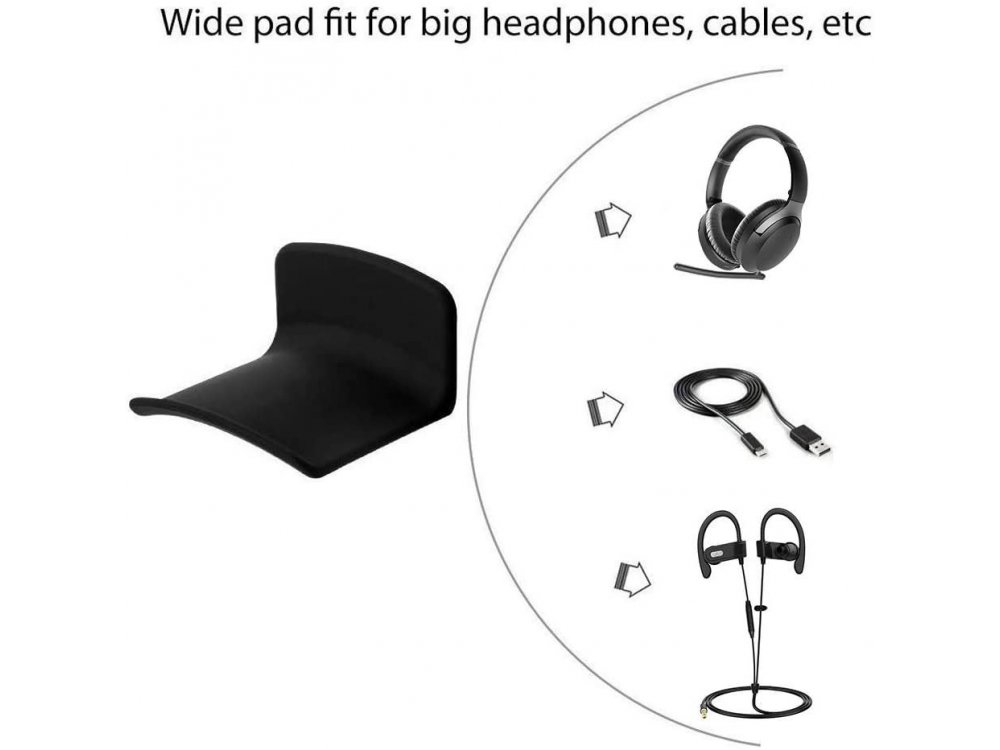 Avantree Neetto Headphone Hanger Holder, Βάση Τοίχου για Headset / Ακουστικά, Κρεμαστή, Μαύρη - HS907