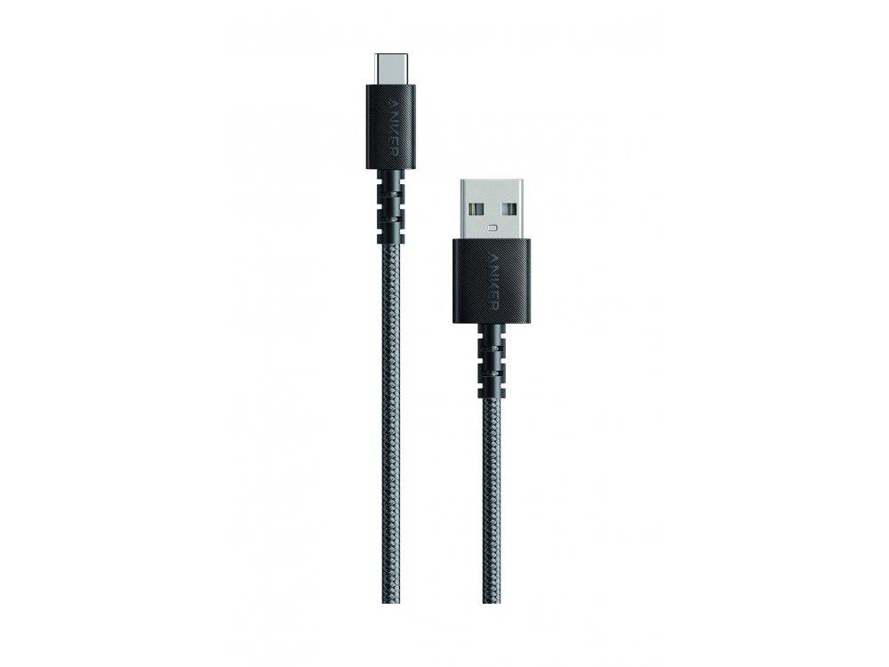 Anker PowerLine Select+ Καλώδιο USB-C 0.9μ. με Νάυλον ύφανση, Μαύρο - A8022H11