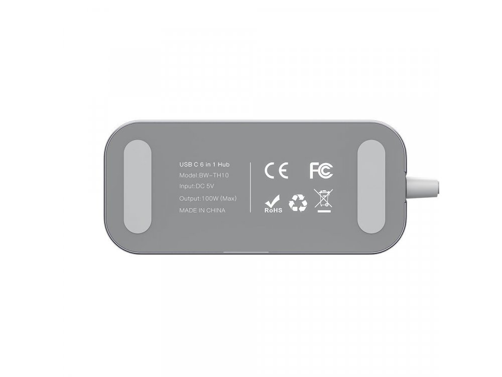 BlitzWolf BW-TH10 6-in-1 USB-C Data Hub HDMI/4K@30Hz + LAN + USB3.0*3 + 100W PD Charging