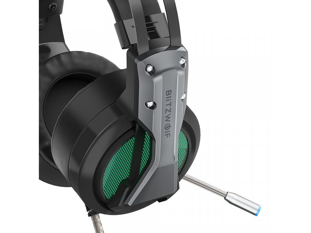 BlitzWolf BW-GH1 RGB LED Gaming Headset 7.1 Real Surround Noise-cancelling Microphone (PC / PS4 / Xbox / Switch / Mac)