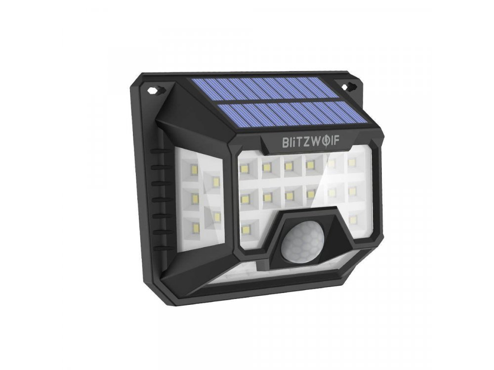 BlitzWolf BW-OLT3 Solar Wall Light, Ηλιακός Προβολέας Τοίχου Με ανιχνευτή κίνησης και φωτός, Σετ των 2