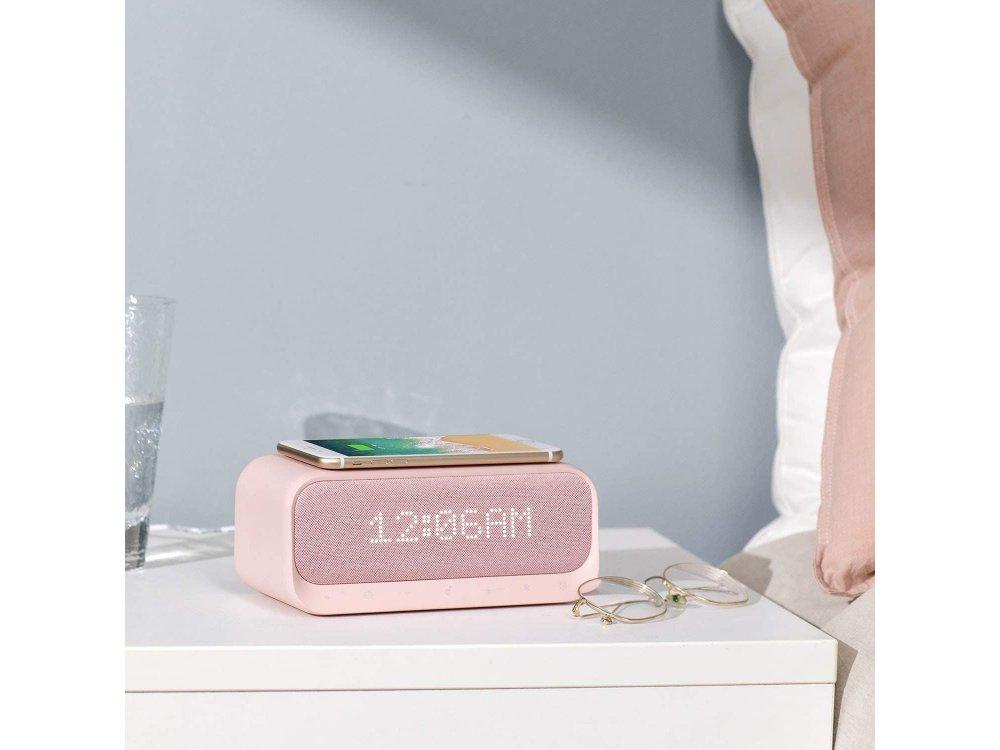 Anker Soundcore Wakey Bluetooth Ηχείο & Ρολόι / Ξυπνητήρι με FM Radio, White Noise & 10W Ασύρματος φορτιστής - A3300351, Ροζ