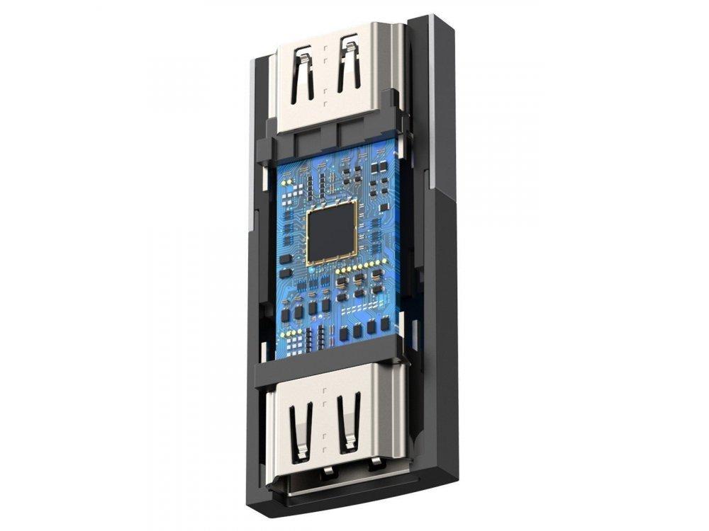 Baseus HDMI 4K@60Hz Extender, Female to Female, Black - CAFDQ-0G