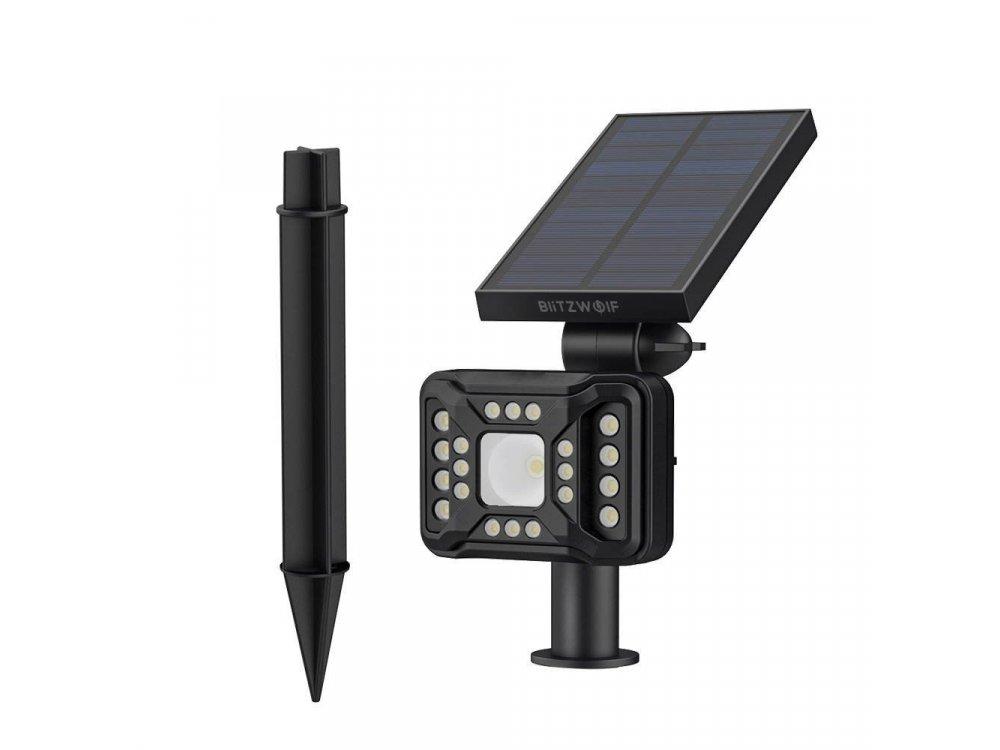 BlitzWolf BW-OLT2 Solar Garden Light, Ηλιακός Προβολέας Κήπου, Με ανιχνευτή κίνησης και φωτός