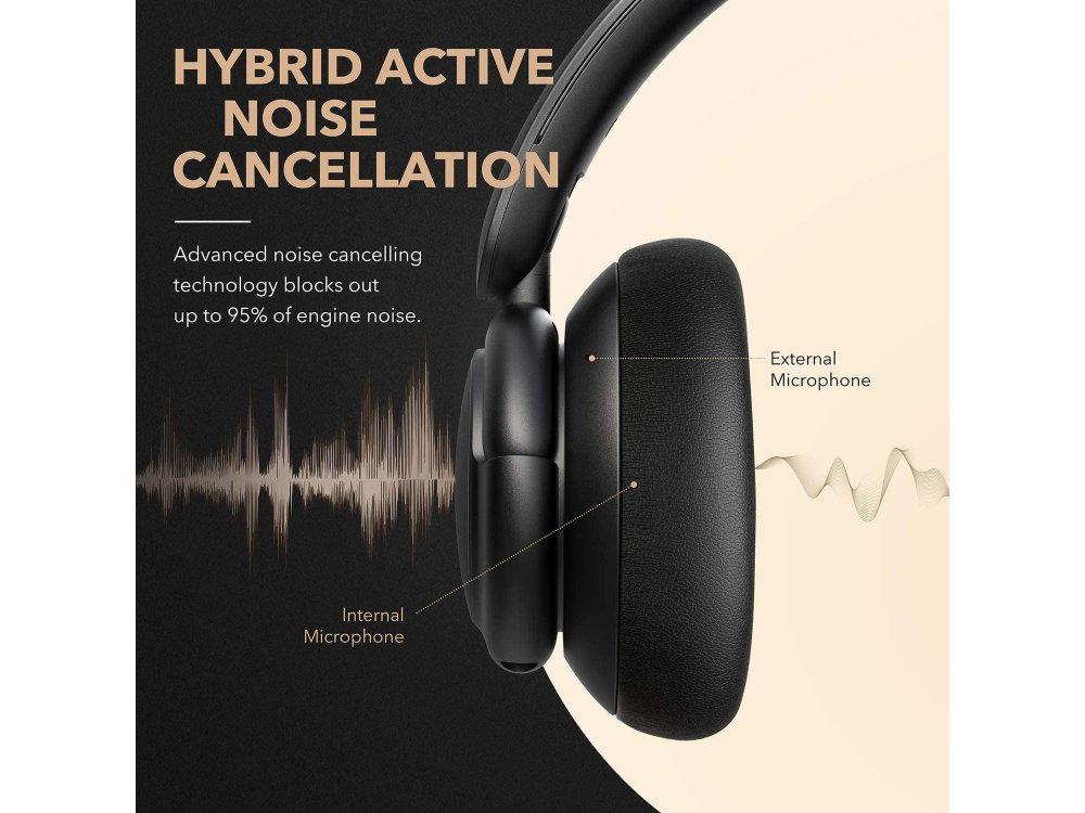 Anker Soundcore Life Q30 Bluetooth ακουστικά με Hybrid Active noise cancellation & Hi-Res Sound - A3028011, Μαύρα