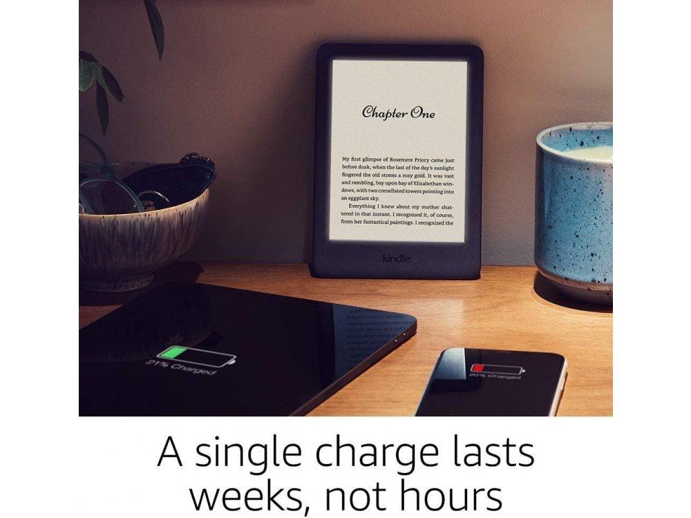Amazon Kindle 10th Generation (Kindle 2019-2020), High-Resolution Display (167 ppi), Built-in Light, Μαύρο (Χωρίς διαφημίσεις)