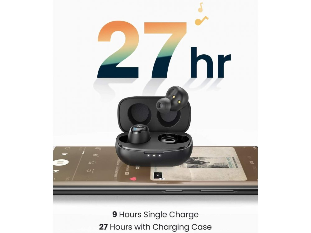 Ugreen HiTune Bluetooth Ακουστικά TWS με CVC 8.0 Noise-cancelling Microphone, aptX, IPX5, 27H Μπαταρία, Μαύρα - 80606