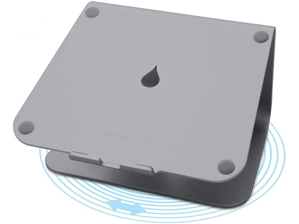 """Rain Design mStand360 Laptop Stand with Swivel Base for Laptop up to 17"""", Space Grey - 10074"""