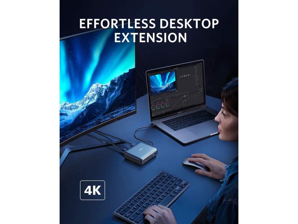 Anker PowerExpand 7-in-1 Type-C Hub 45W 4K@60Hz HDMI + USB-A Gen2 + Thunderbolt + 1*Micro SD/SD 4.0 + Gbps LAN - A83643A1