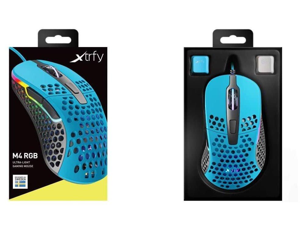 Xtrfy M4 RGB Optical Gaming Mouse Ultra-Light 400 - 16.000 DPI, Miami Blue