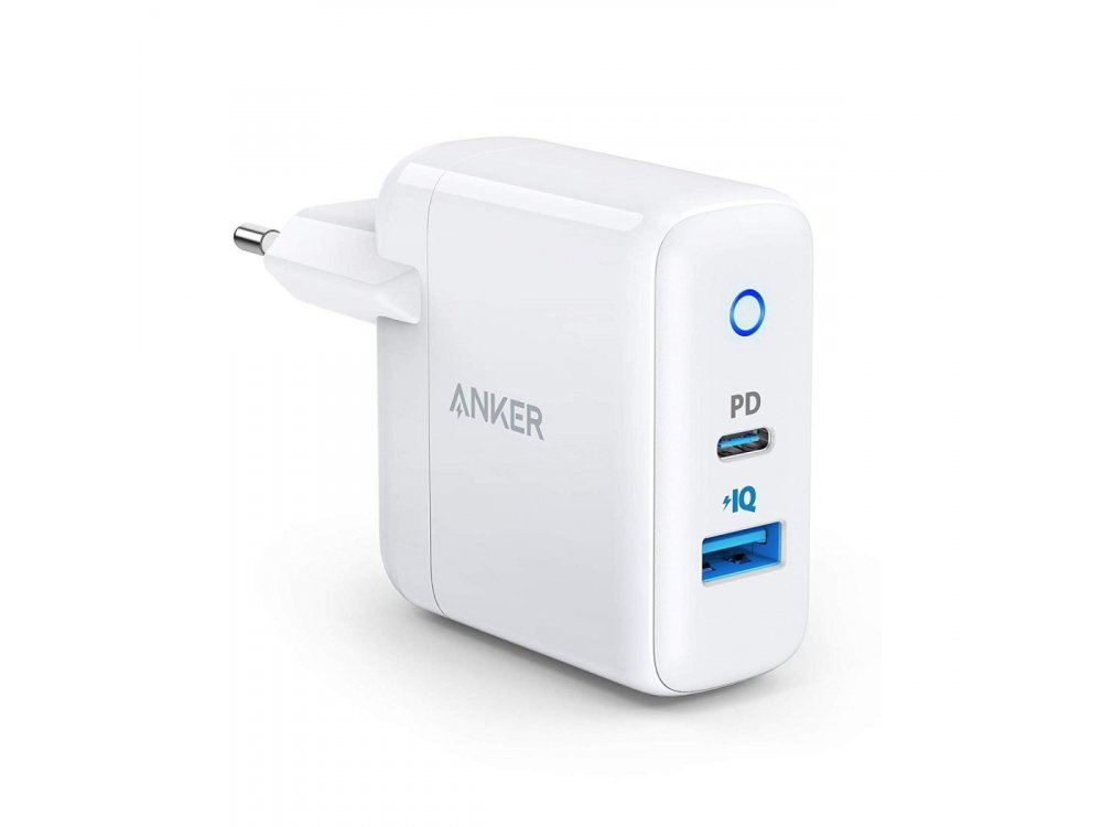 Anker PowerPort PD+ 2 Φορτιστής πρίζας 2-θυρών 33W με Power Delivery - A2626GD1