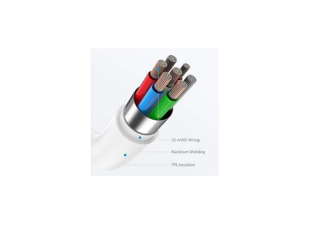 Anker PowerLine Select 0.9μ. Lightning Καλώδιο σε USB-C για Apple iPhone / iPad / iPod MFi & PD Φόρτιση, Μαύρο - A8612H11