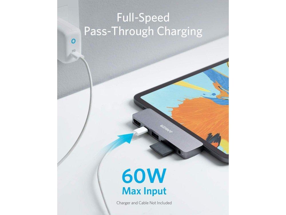 Anker PowerExpand Direct 6-in-1 Type-C Hub για iPad Pro 60W 4K@60Hz HDMI + USB3.0 + Type-C + 1*Micro SD/SD + Audio - A83620A1