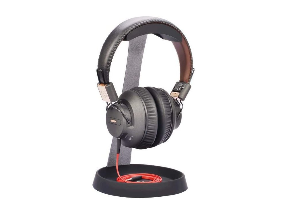 Avantree Neetto Headphone Stand & Hanger, Aluminum Stand for Headset / Headphones, with Cable Holder, Black - HS102