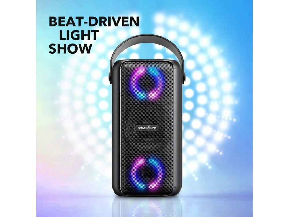 Anker Soundcore Mega, Φορητό Αδιάβροχο Bluetooth Ηχείο 80W με RGB LED & Είσοδο Μικροφώνου - A3392G11, Mαύρο