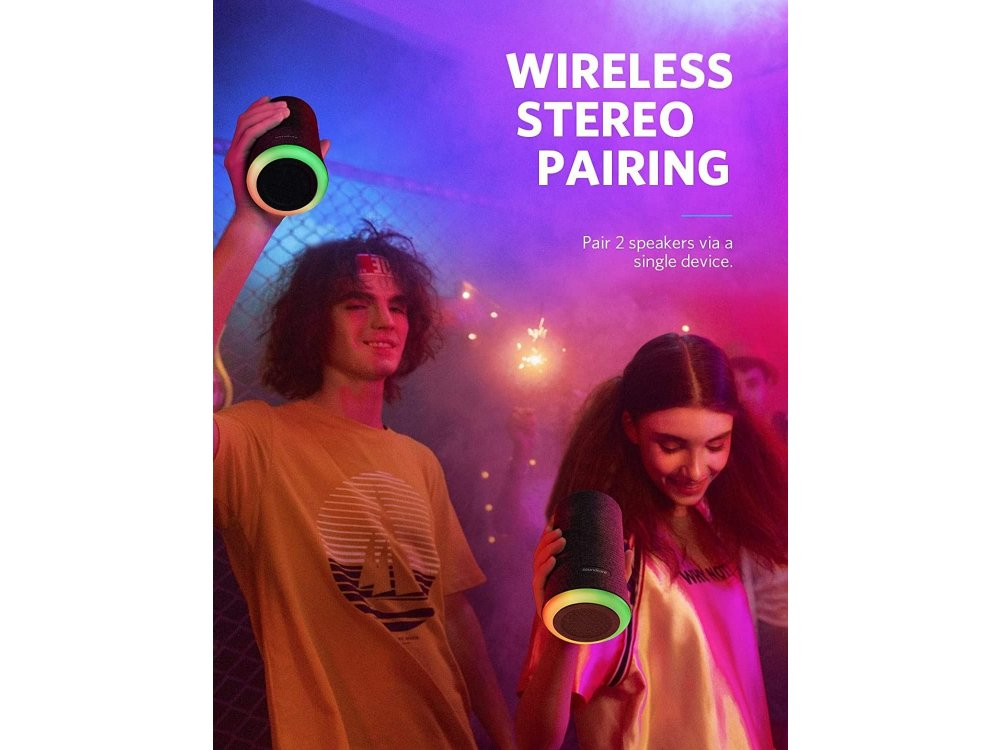 Anker Soundcore Flare, Φορητό Αδιάβροχο Bluetooth Ηχείο 12W & Θήκη - Gift Edition - B3161012