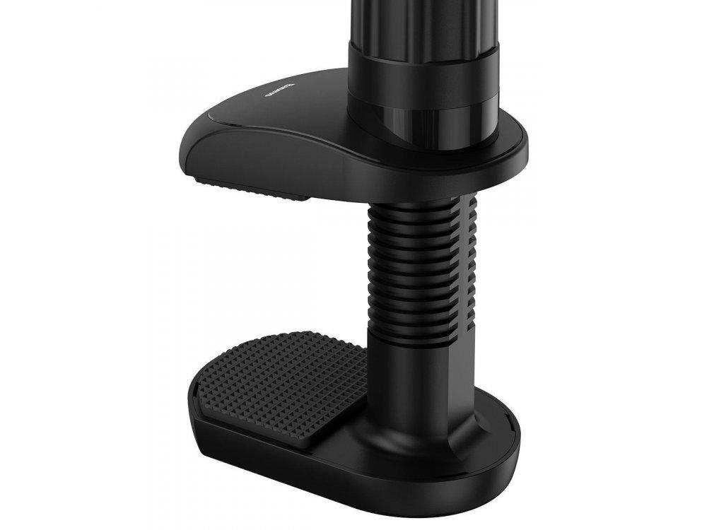 "Baseus Otaku clip holder for smartphone/Tablet 4""-12.9"", 90cm Height, black - SULR-B0G"