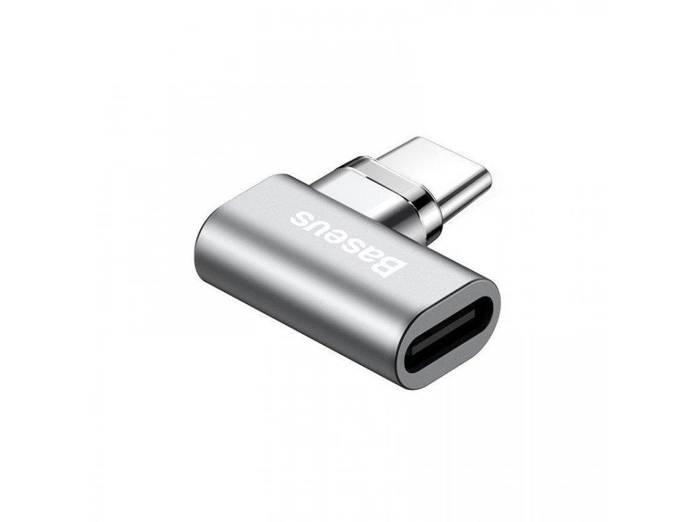 Baseus Magnetic Adapter USB-C, Μαγνητικός Γωνιακός Αντάπτορας Type-C - CATCX-0G