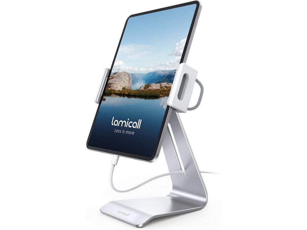 "Lamicall DT03 Βάση/Stand Tablet Περιστρεφόμενη Πλάτη 360° για συσκευές 4.7""-13"", Ασημί"