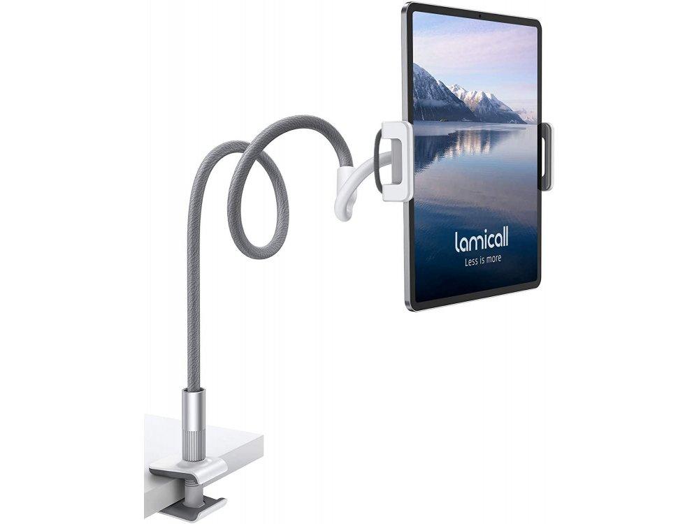 "Lamicall LS02 Gooseneck Εύκαμπη Βάση/Arm τοποθέτησης Κινητού/Tablet 4""-10.5"" Ίντσες, 88εκ. Ύψος, Γκρι"