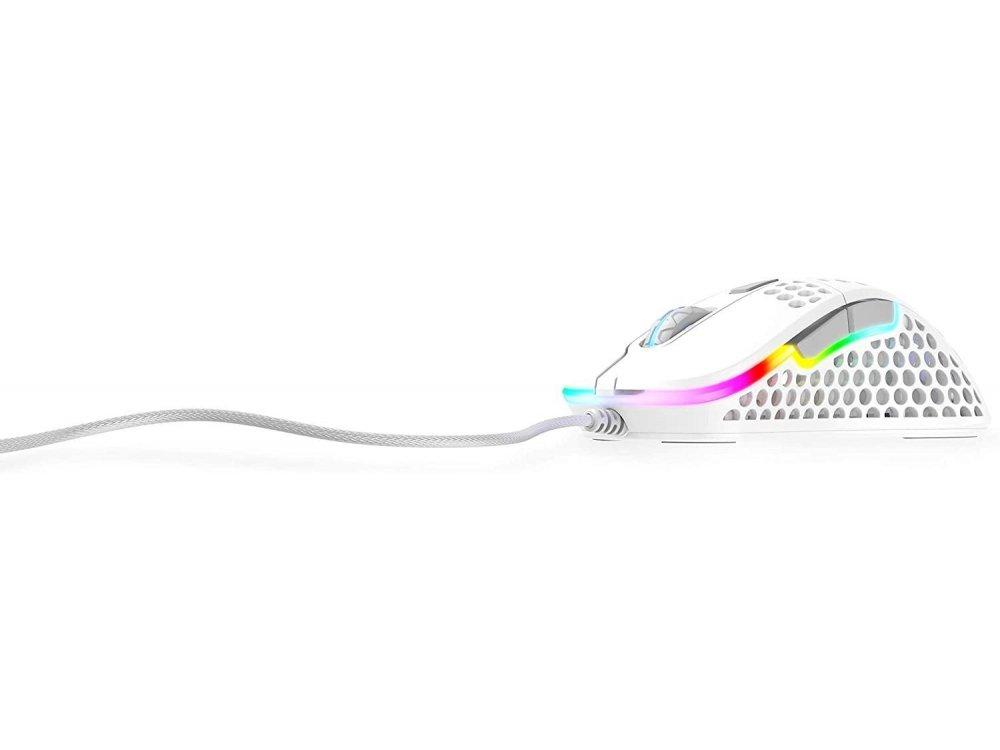 Xtrfy M4 RGB Optical Gaming Mouse Ultra-Light 400 - 16.000 DPI, White