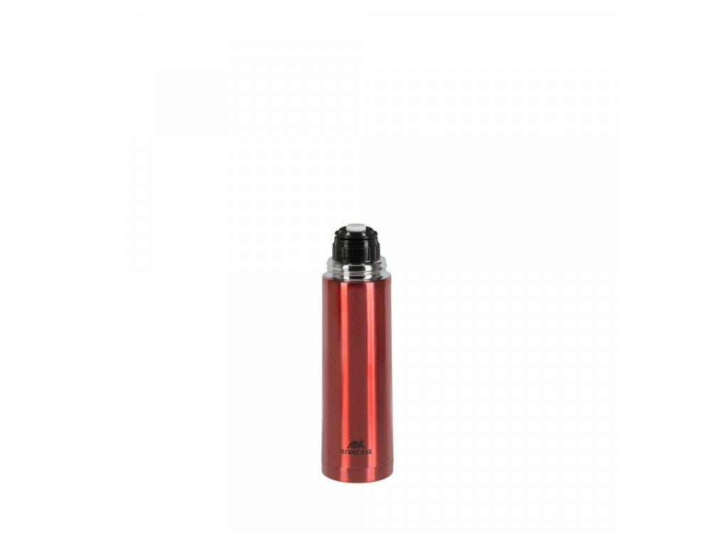 RivaCase 90421RDM Vacuum flask 1 litre with Safety Lock Button, Red