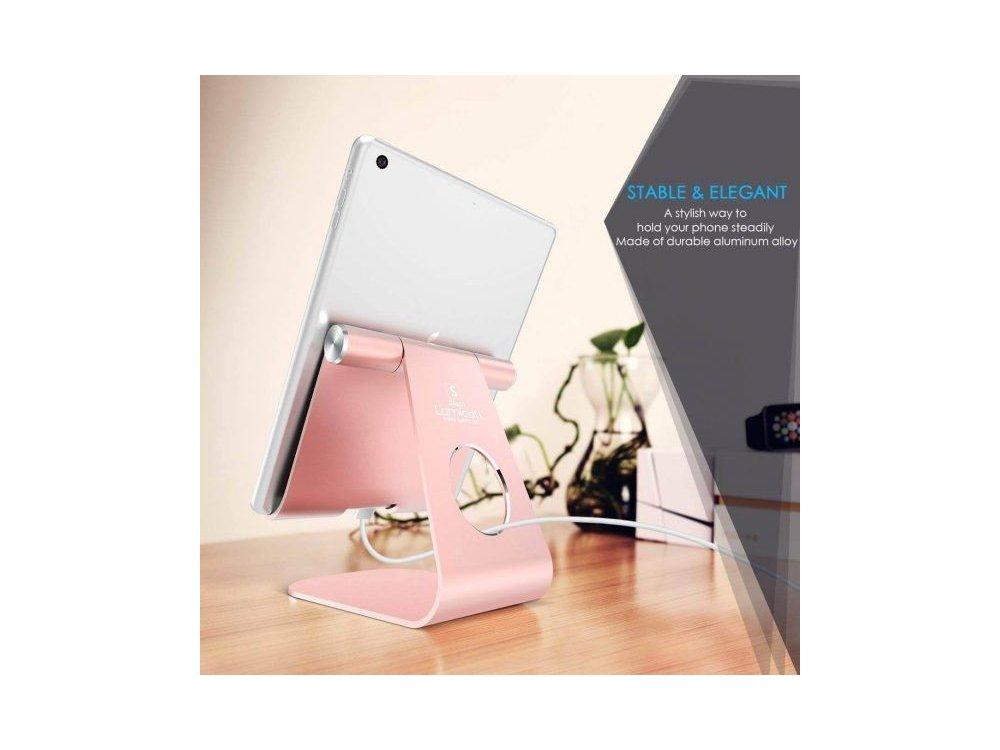 "Lamicall S1 Βάση/Stand Tablet Ρυθμιζόμενη 270° για συσκευές 5""-13"", Rose Gold"