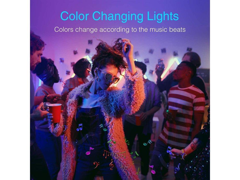 NiteBird SL3 Smart RGB LED Strip lights 10m, 16 Colours (Static & Rainbow), Wi-FI, compatible with Alexa, Google