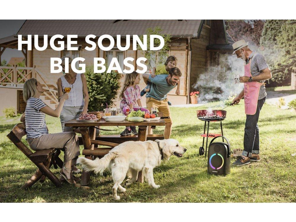 Anker Soundcore Rave Neo, Φορητό Αδιάβροχο Bluetooth Ηχείο 50W με RGB LED - A3395G11, Mαύρο