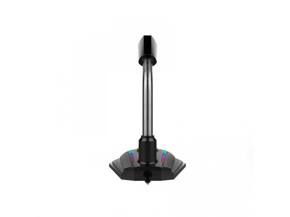 Havit HV-GK56 PC Microphone RGB with USB & 7 Colors, Black