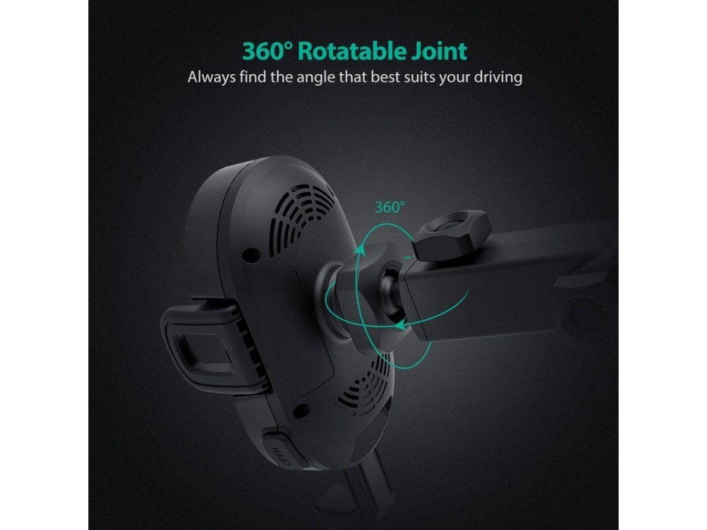 RAVPower Qi 10W Wireless charger/Mount Air Vent for Car - RP-SH007