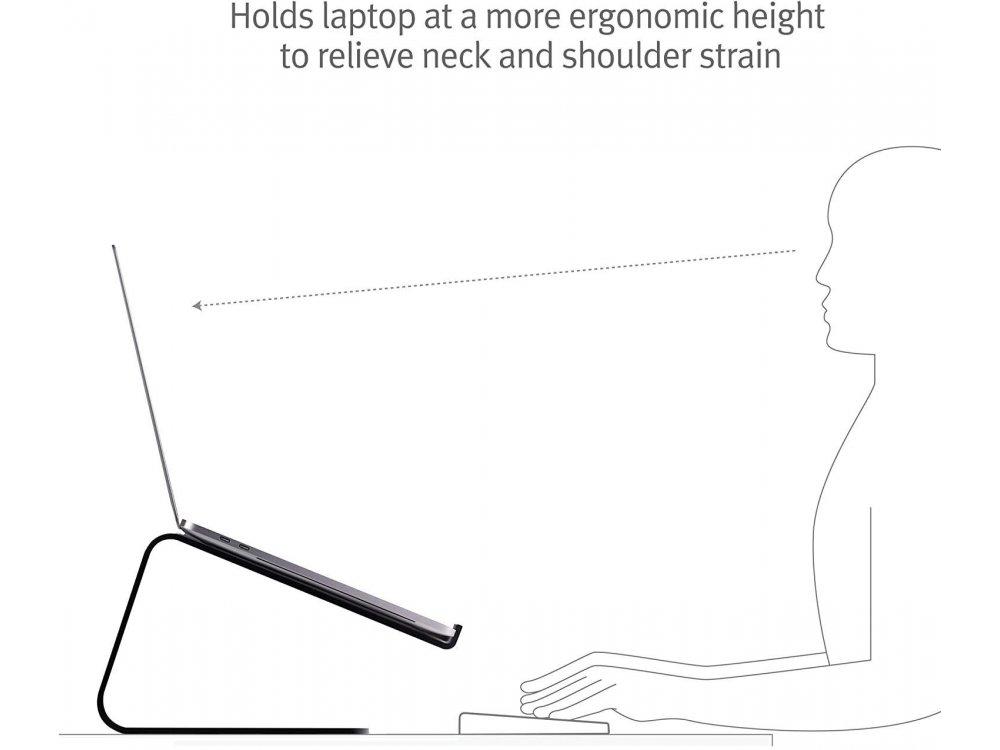 "Twelve South Curve Stand/Mount for Laptop / Macbook 11-17"", Matte Black - 12-1708"