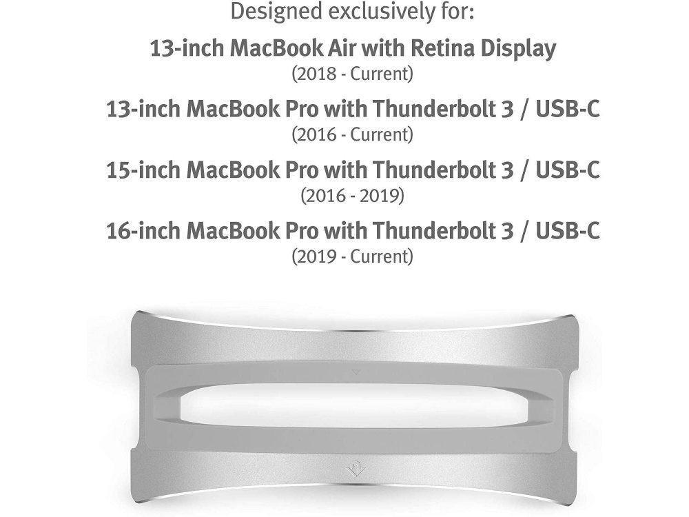 """Twelve South BookArc Vertical Stand for Laptop / Macbook 13-16"""",  Silver (Latest Version) - 12-2005"""
