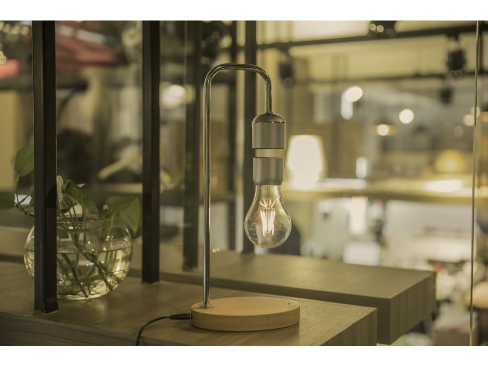 Allocacoc Levitating Light Bulb, Magnetic suspended Lamp, Silver - DH0106/EULELP