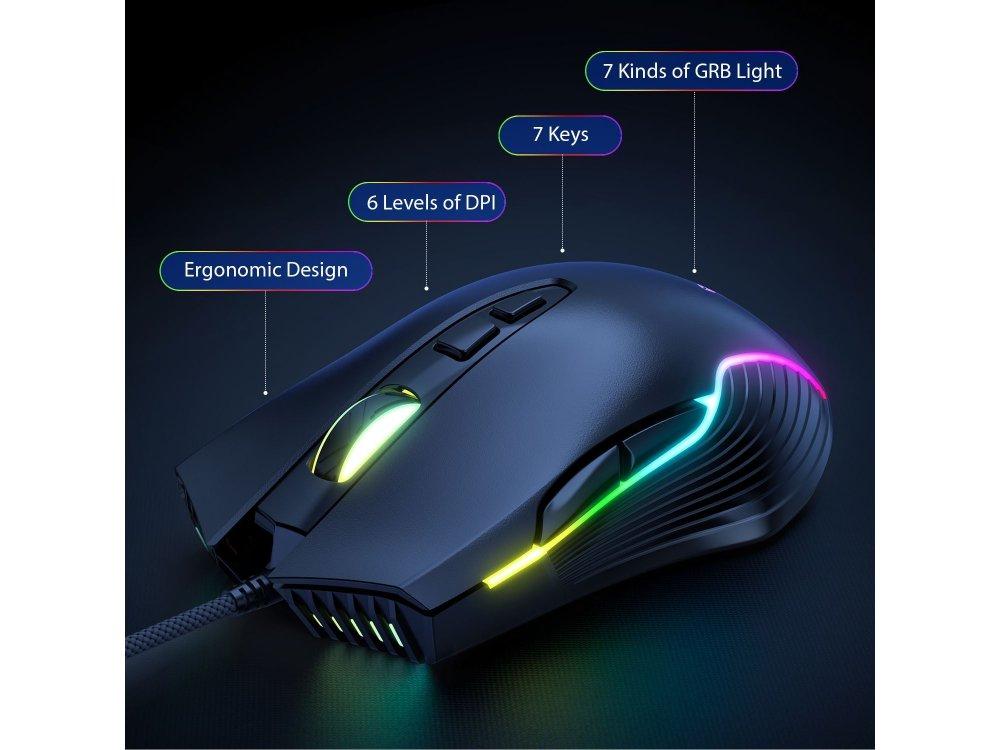 Onikuma G26+CW905 RGB Combo Gaming Mechanical Keyboard and Optical Mouse, Set Wired Mechanical Keyboard + Mouse