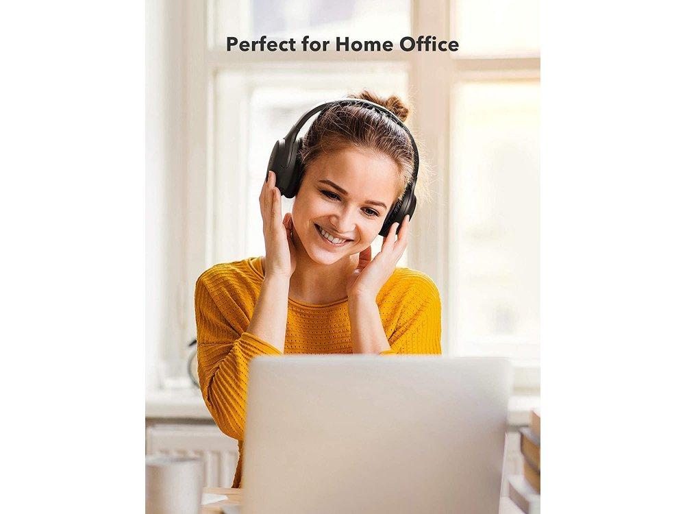 TaoTronics SoundSurge 90 Active Noise Cancelling, Bluetooth 5.0 Headphones, Fast Charge, Black - TT-BH090
