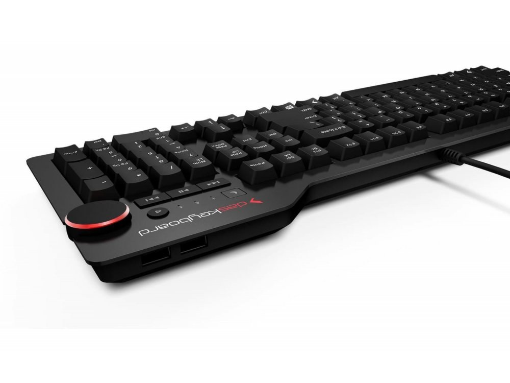 Das Keyboard 4 Professional Wired Mechanical Keyboard, Cherry MX Brown switches - Soft Tactile - DASK4MKPROSIL-UK