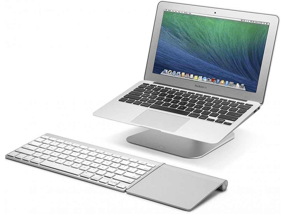 "Twelve South HiRise Laptop Stand με Ρυθμιζόμενη καθ' ύψος & Περιστρεφόμενη Βάση για Macbook / Laptop 10-17.3"", Silver"