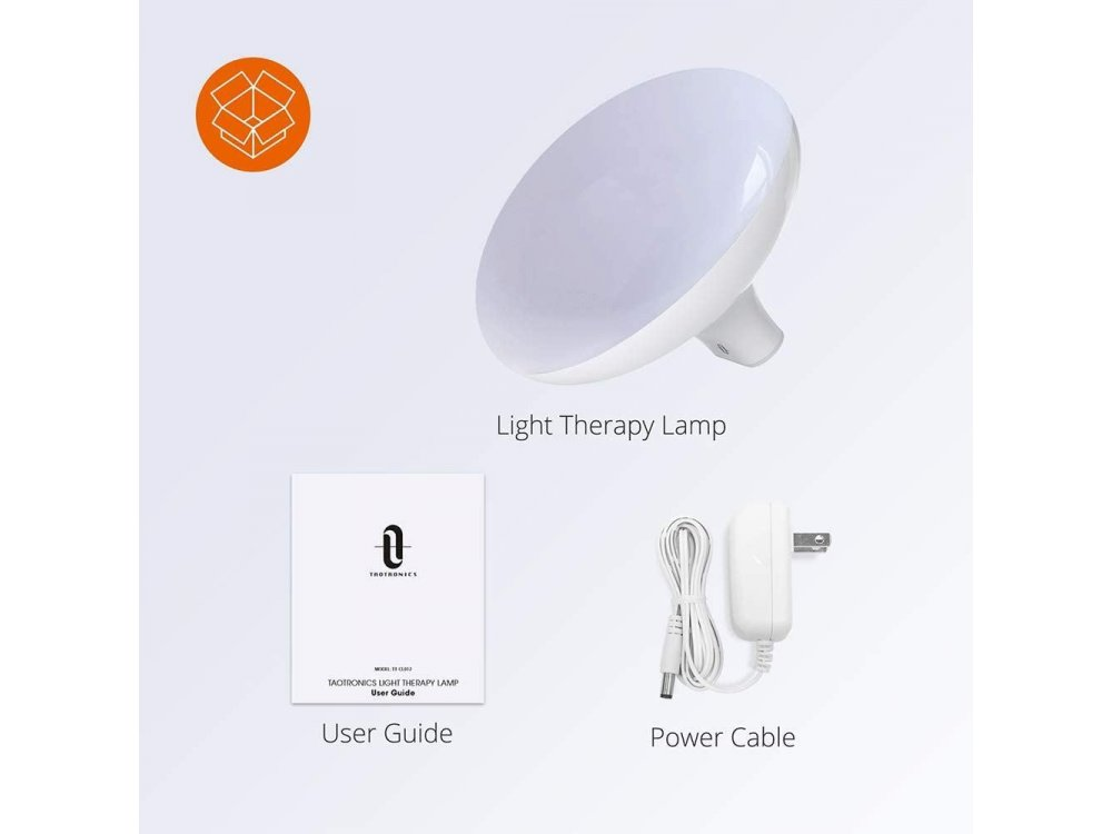 TaoTronics Light Therapy Lamp 10.000 Lux with 3 Adjustable Brightness Levels & Timer - TT-CL012
