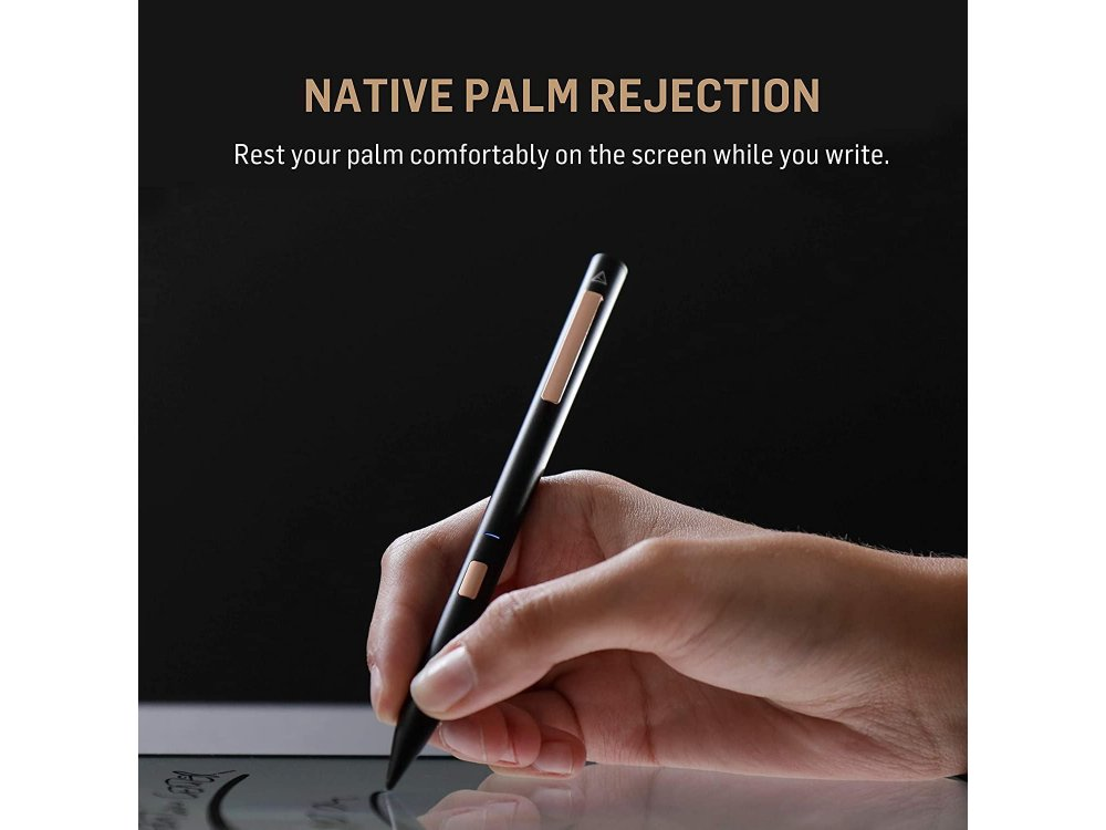 Adonit Note Stylus Pen Stylus for Writting/Drawing for iPad / iPad Air / iPad Pro with Palm Rejection, Black - ADNB