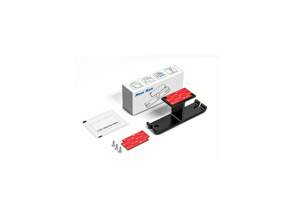 Nordic Dual Headphone Hanger Holder, Wall Stand for Headset / Headphones, Hanger, Under-Desk, Black - HPH-100
