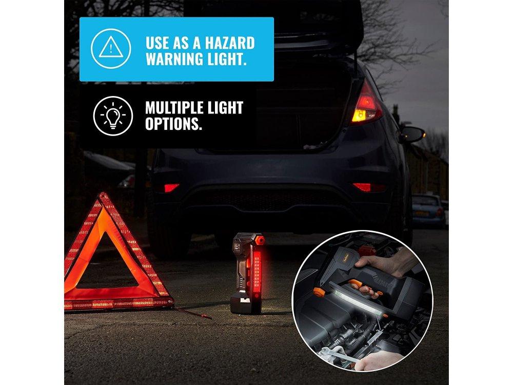 VonHaus 12V Tyre Inflator, Κομπρεσέρ Αέρος με Ψηφιακό Μετρητή Πίεσης Ελαστικών, Max 125 PSI, LCD Display & Φακό LED - 3500001