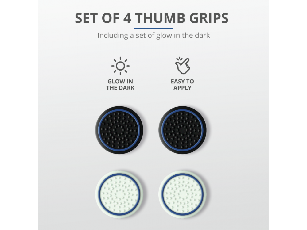Trust Thumb Grips 4-Pack για PS5 Controller - 24170