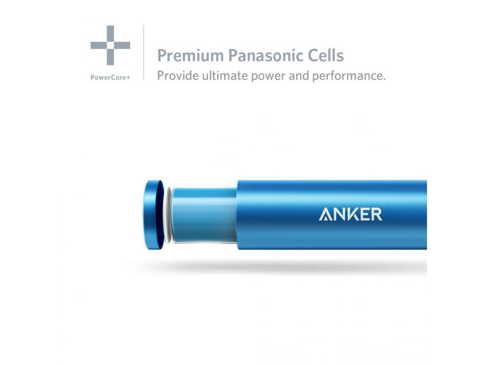 Anker PowerCore+ mini 3350 Power Bank - A1104031, Blue